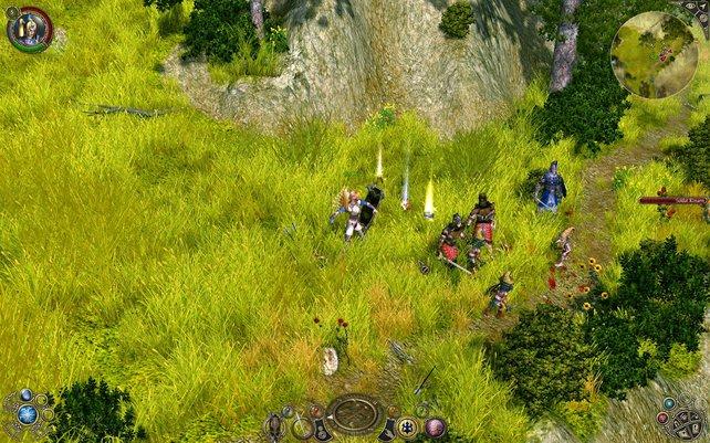 Unsere Seraphim kämpft gegen eine Horde Kobolde - wieder mal.