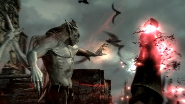 Ein Vampirlord nutzt mächtige Zauber und scharfe Krallen im Kampf.