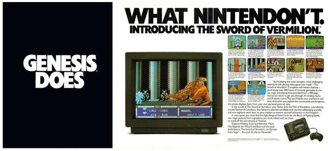 Segas aggressive Kampfansage an Nintendo.