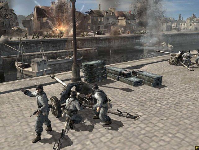 Ein Gefecht über den Fluss hinweg