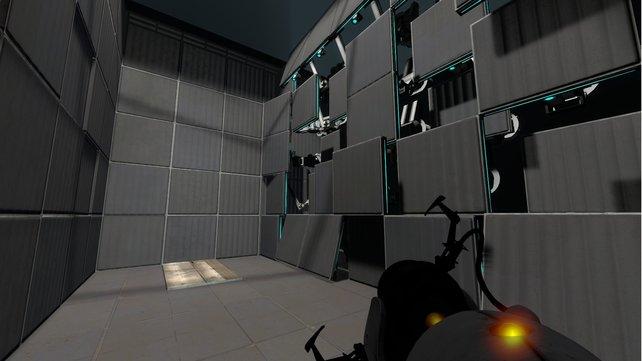 Die Portalpistole ist euer Schlüssel zum Level-Ausgang.