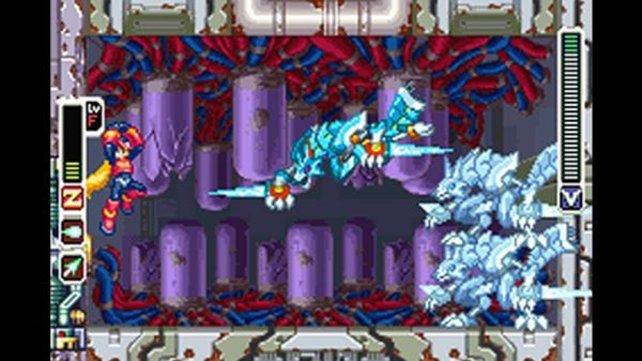 Mega Man Zero orientiert sich stilistisch und inhaltlich an der X-Serie.
