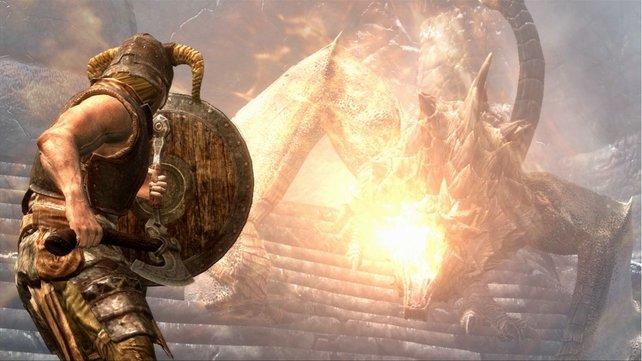 Ob klein oder groß, jeder Drache in Skyrim ist gefährlich.
