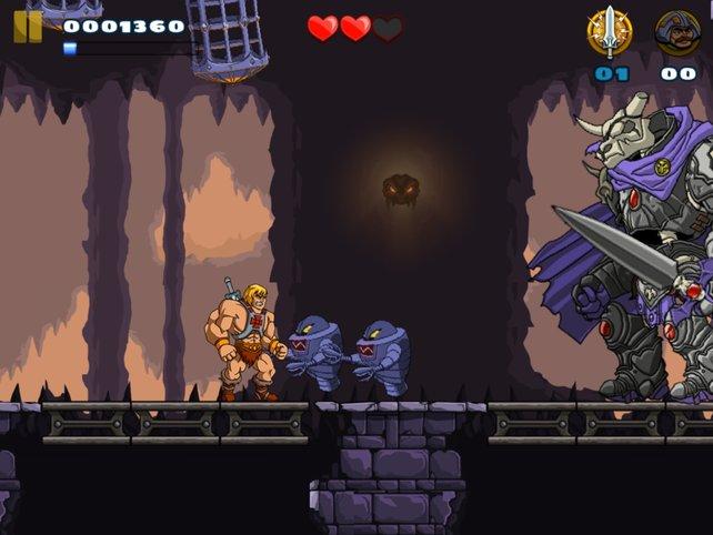 Kleine wie große Monster sind für He-Man kein Problem.