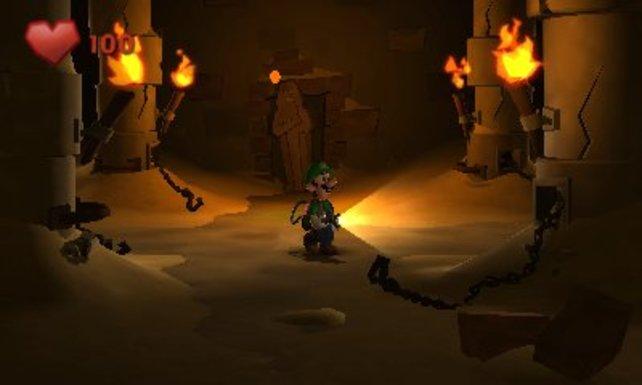 Auch in ägyptischen Ruinen ist Luigi dieses Mal unterwegs.