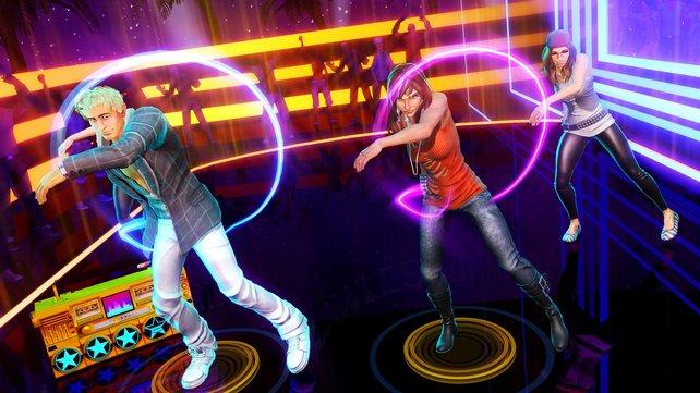 In Dance Central 3 kommen die Lieder aus mehreren musikalischen Epochen.