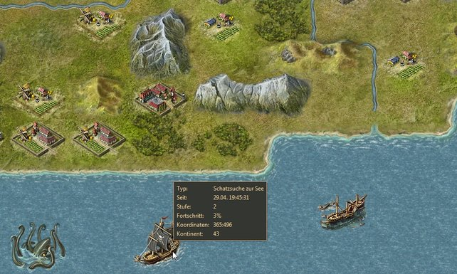 Eine starke Flotte ist teuer, lohnt sich aber: Überfälle auf Küstenstädte, Piratenjagd, Riesenkraken-Grillabende...