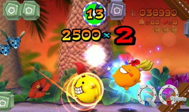 Ping und Lana haben gemeinsam wesentlich mehr Spaß, wodurch ihr auch schneller an mehr Punkte kommt.