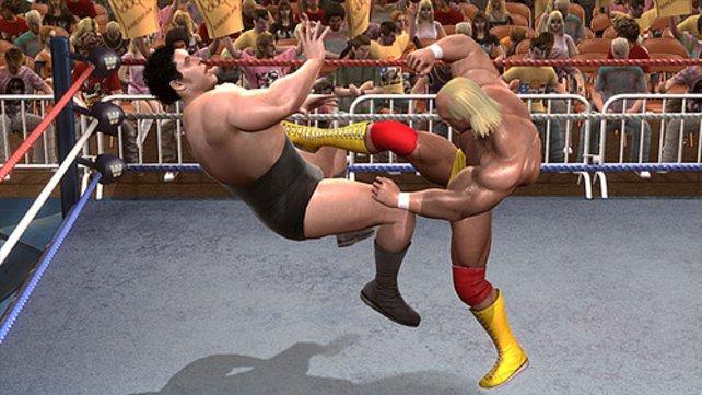 """Im Gegensatz zu """"WWE Smackdown Vs. Raw 2009 fühlt sich das Gameplay ein bisschen an wie ein Tritt in die..."""