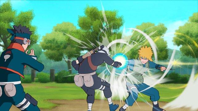Wer nicht blockt, bezieht Prügel. Eine Lektion, die Kakashi gerade lernt.