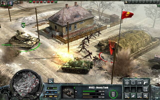 Der russische Panzer hat gegen unseren Tank keine Chance.