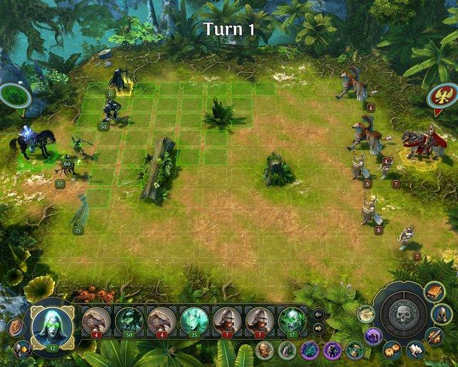 Das Spielprinzip erinnert entfernt an Schach und bleibt in Might & Magic: Heroes 6 unverändert.