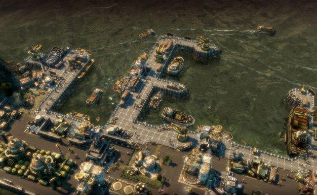 Der Hafen stellt eine wichtige Schnittstelle für den Warenhandel dar.