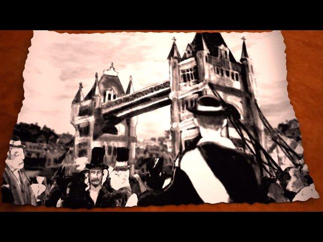 Im Spiel gerade fertig gestellt: die Tower Bridge in London