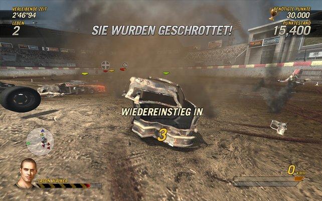 Die Destruction Derbys machen unglaublich viel Spaß.