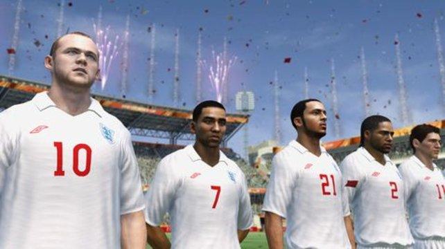 Wayne Rooney und zehn Komparsen.