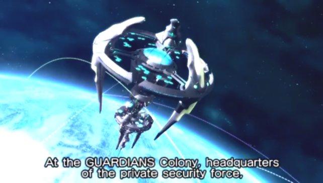 Das Guardians-Hauptquartier, eine mächtige Raumstation.
