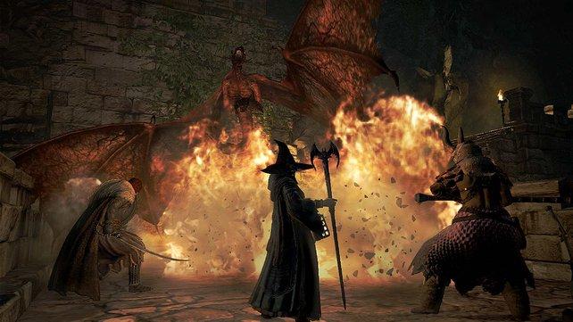 Jeder Vasall kann seine speziellen Fähigkeiten, wie beispielsweise einen heilenden Zauber, für die Gruppe einsetzen.