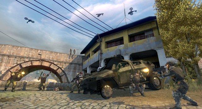 Drohnen und Fahrzeuge spielen auch in Frontlines eine große Rolle.