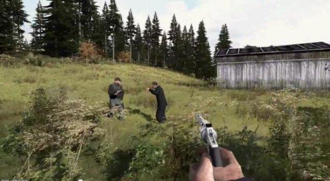 Zombie erschießen, Überlebenden sterben lassen oder wegrennen - Eure Entscheidung!