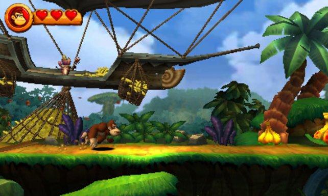 Auf Nintendos 3DS feiert Donkey Kong seine Rückkehr.