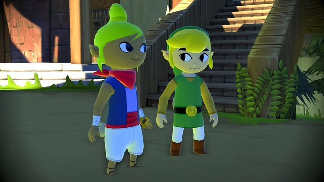 Link und Tetra gönnen sich eine kurze Pause.