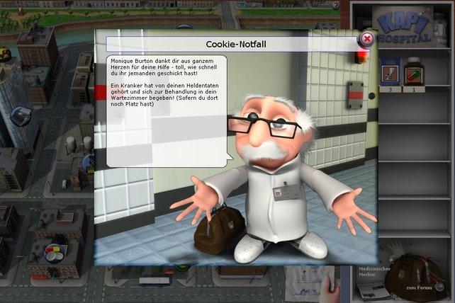 Am Ende der Quests gibt's ein Dankeschön vom Doc.