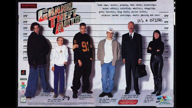 Werbeanzeigen für GTA preisen gezielt die im Spiel möglichen Verbrechen an.