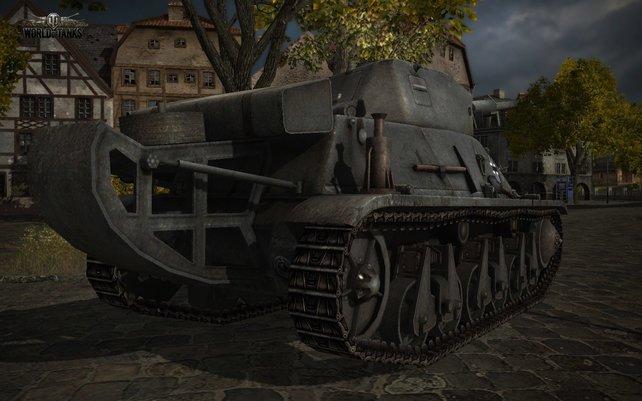 Aus der Nähe macht so ein Panzer einiges her.