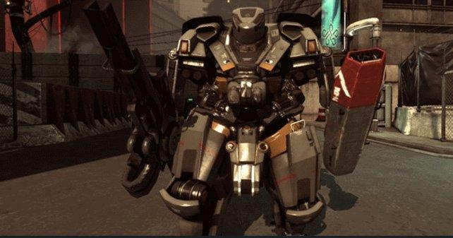 Der sogennante Mech-Anzug ist der begehrteste Anzug im Spiel. Er ist nur schwer zu beschädigen.