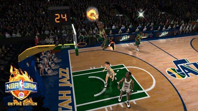 Dicke Köpfe, tolle Dunks - bei NBA Jam gehts actionreich zur Sache.