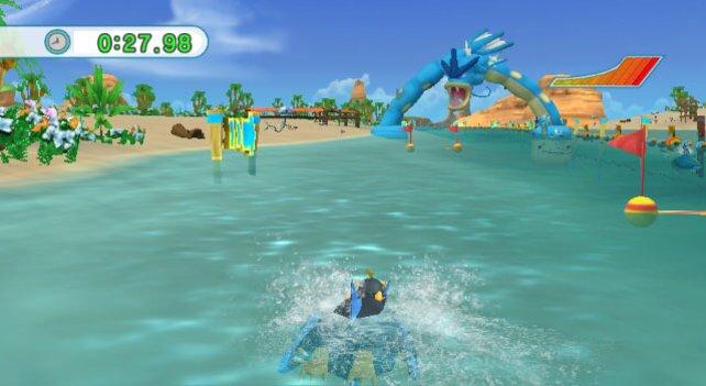 Um diesen Parcours in Rekordzeit zu meistern, nehmt ihr am besten ein Wasser-Pokemon.