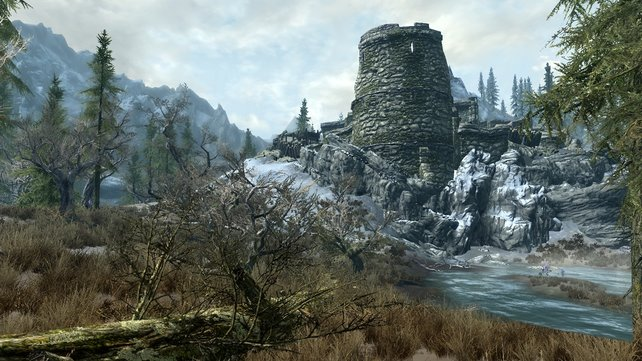 Eine Ruine in den Bergen. Doch so verlassen, wie sie aussieht, ist sie gar nicht.