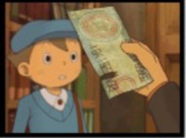Eine mysteriöse Fahrkarte ohne Fahrziel, das ist bestimmt ein wichtiger Hinweis für Luke und den Professor.