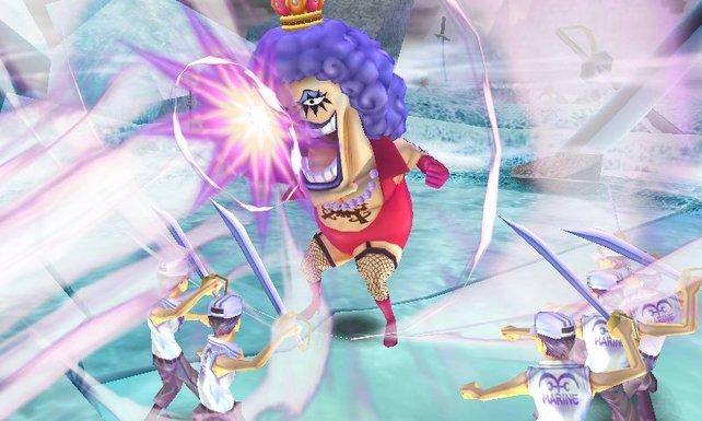 Im Marineford-Modus bestreitet ihr eine Reihe an Kämpfen mit anderen Charakteren.