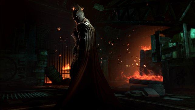 Der dunkle Ritter ist gemeinsamen mit seinem Helfer Robin auf Schurkenjagd
