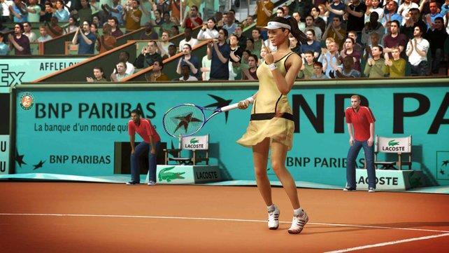 Auch weibliche Athleten sind dabei, hier Ana Ivanovic.