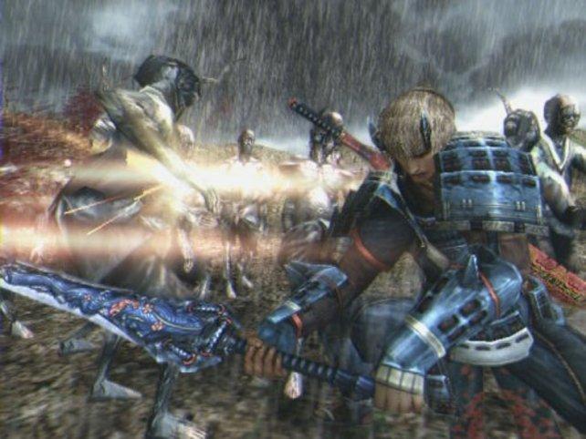 Der Charakter fegt seine Gegner gleich mit Oni-Magie vom Schlachtfeld