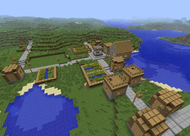 Dörfer mit Menschen fehlen leider noch in der aktuellen Version 1.8.
