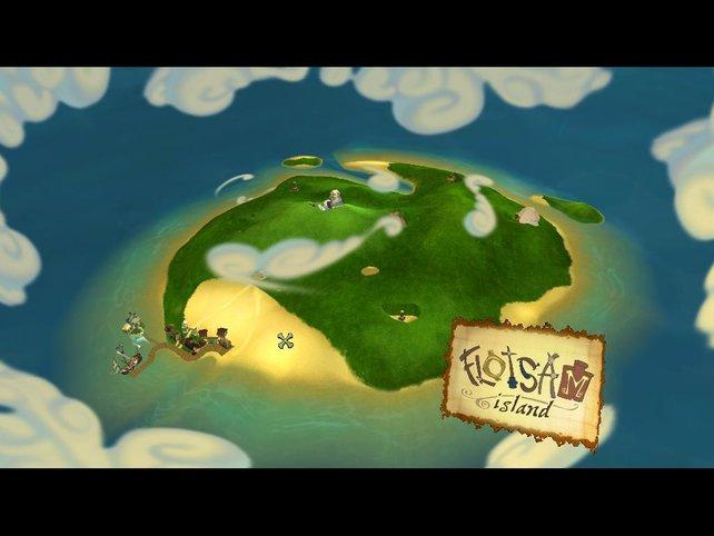 Flotsam Island - Schauplatz der ersten Episode.