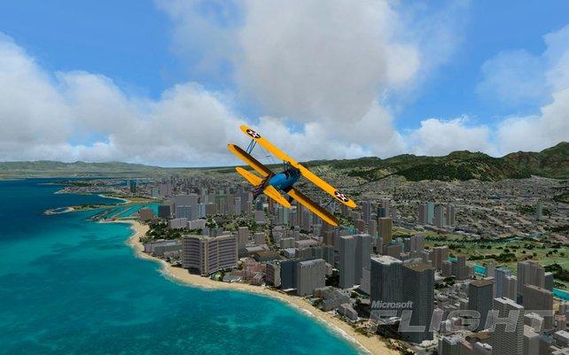 Microsoft Flight lädt zu ausgiebigen Rundflügen ein.