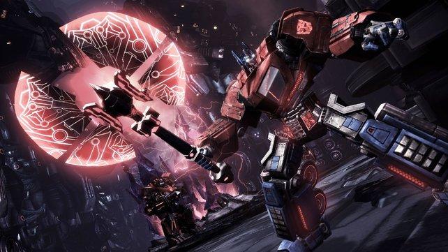 Optimus mit seiner riesigen Axt.