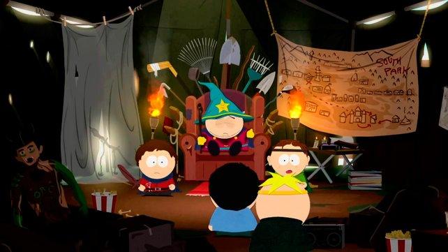König Cartman regiert in seinem selbstgeschusterten Garagen-Palast.