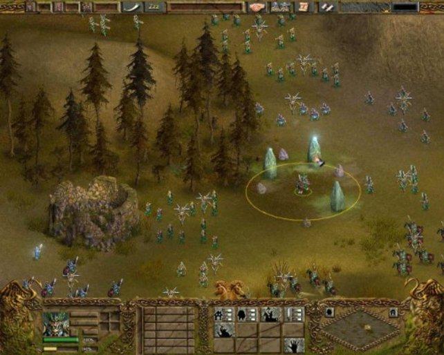 Ein keltisches Heer bereitet sich auf den Angriff vor.