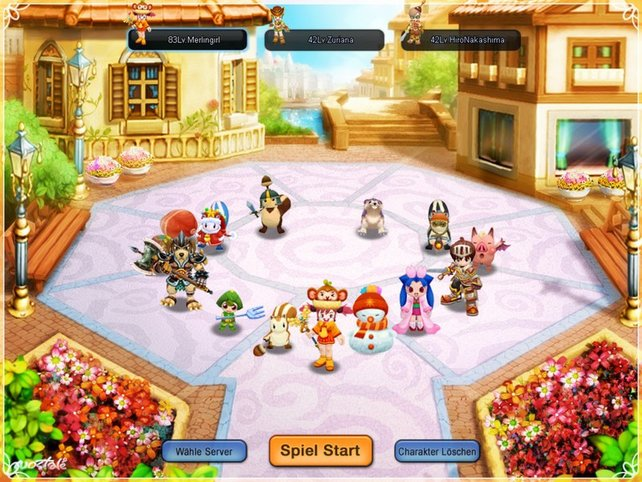 Vor dem Abenteuer wählt ihr eure Spielfigur und verändert diese optisch.
