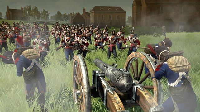 Wenn die Kanone losgeht, ist's aus für die Infanterie.