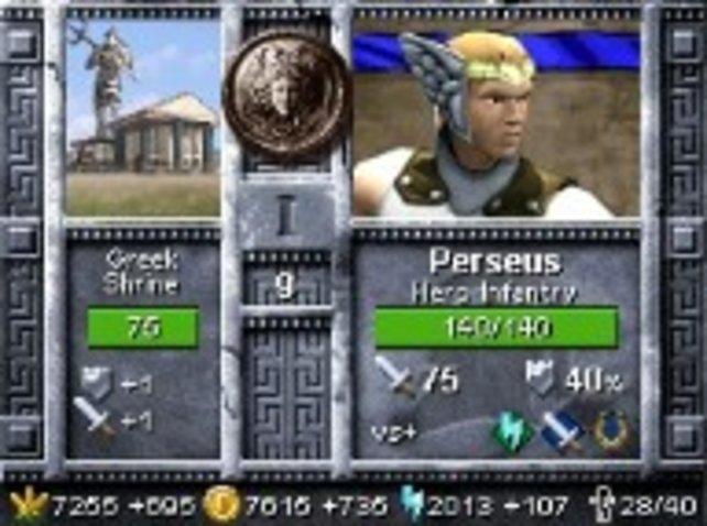 Auf dem oberen Bildschirm werden euch alle wichtigen Infos zu ausgewählten Einheiten oder Helden angezeigt.