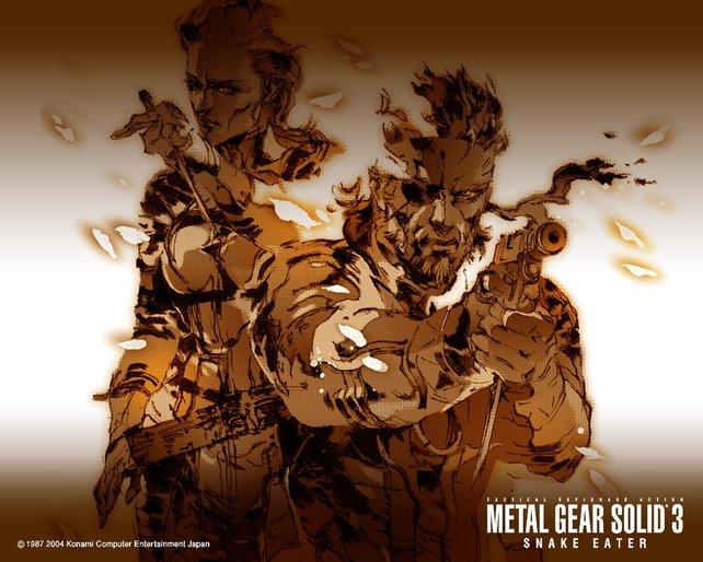 Da Snake Eater chronologisch gesehen der erste Teil ist, strotzt Solid Snake noch vor jugendlicher Kraft.