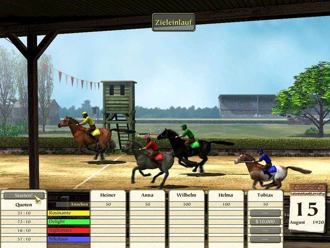 Beim Pferderennen kann man auch wetten