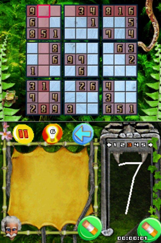 Der Klassiker Sudoku ist auch dabei, leider schlecht bedienbar.